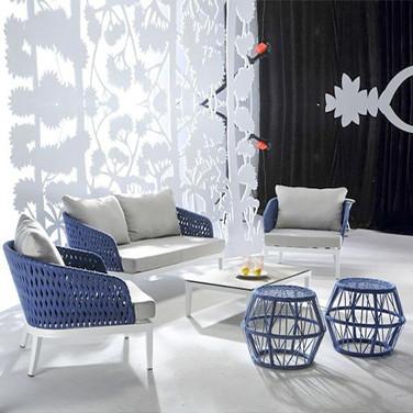 Outdoor Braided & Rope Sofa - Waltz