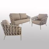 Outdoor Braided & Rope Sofa - Regency