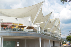 Tensile Structure Cafeteria Shade