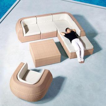 Outdoor Furniture - Wicker Sofa - Orbit
