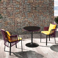 Outdoor Braided & Rope Coffee Set - Ambiance