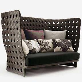 Outdoor Wicker Couch - BroadStreet
