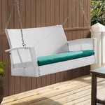 Outdoor Wicker Two Seater Swing - Sapphire