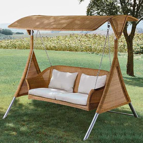 Outdoor Wicker Two Seater Swing - Kingston