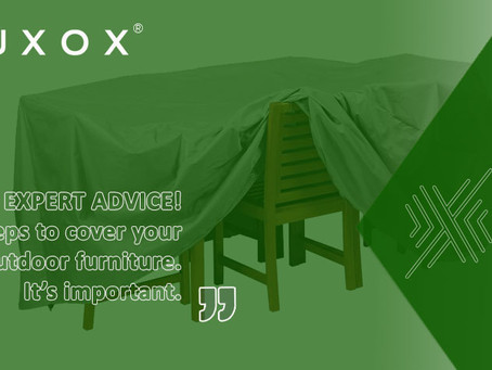 EXPERT ADVICE! Easy steps to cover your outdoor furniture. It's important.