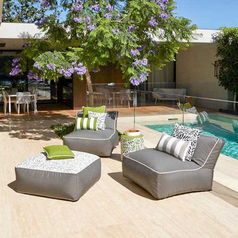 Outdoor Fully Upholstered Bean Sofa Set