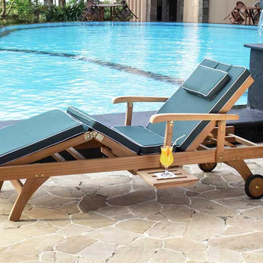 Wooden Sunlounger for Patio