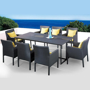 Outdoor Wicker Garden Dining Set - Canella