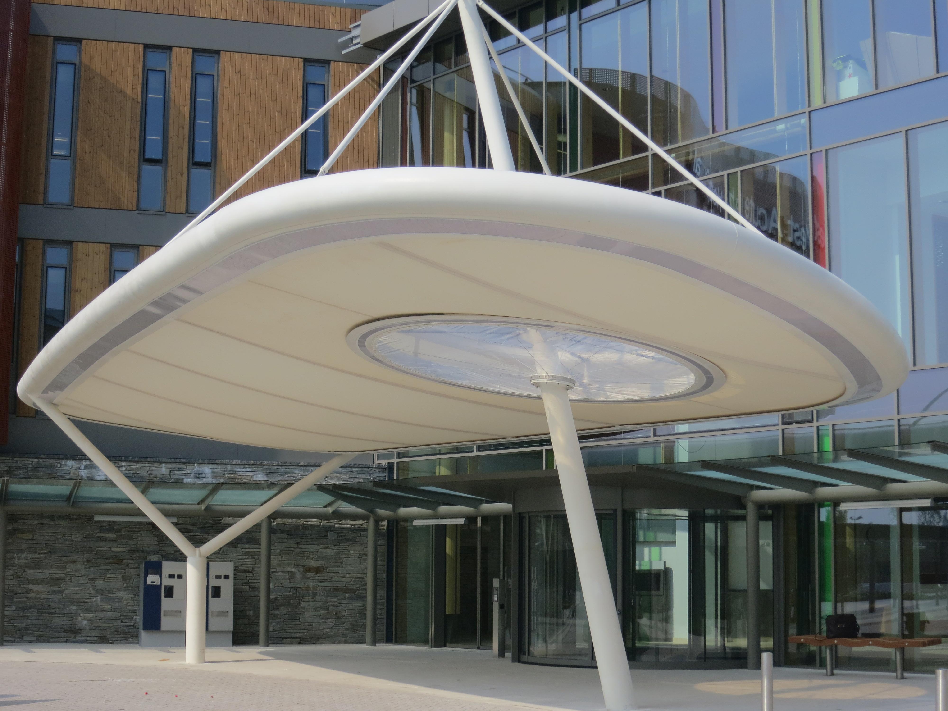 PVDF Tensile Membrane Entrance Shade