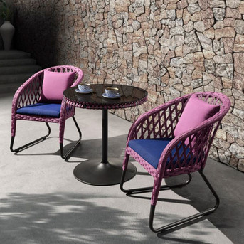 Outdoor braided Coffee chair Sigma