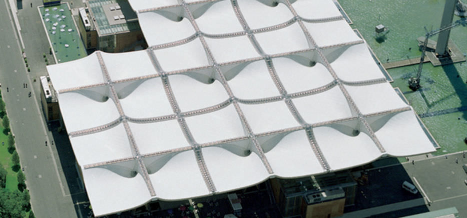Modern PVDF Tensile Skylight Pergola