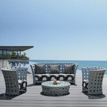 Outdoor Furniture - Wicker Sofa - Aster