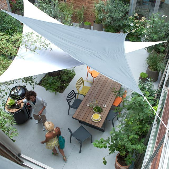 Tensile Sail Cafeteria Shade