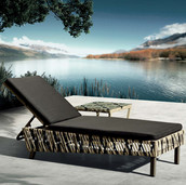 Outdoor Braided & Rope Sunlounger - Cesca