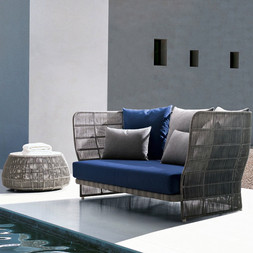 Outdoor Braided & Rope Couch - Pristine