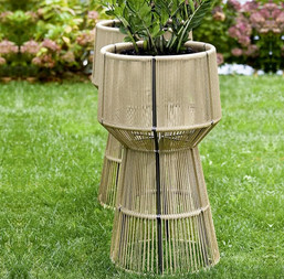 Outdoor Braided & Rope Planter - Pristine