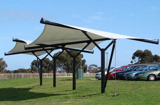 Tensile Membrane Sail Park Shade