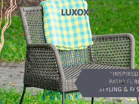 INSPIRED IDEAS! Outdoor furniture styling and fashion.