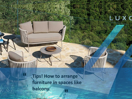TIPS! How to arrange furniture in spaces like balcony.