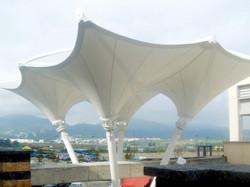PVDF Tensile Membrane Inverted Cone