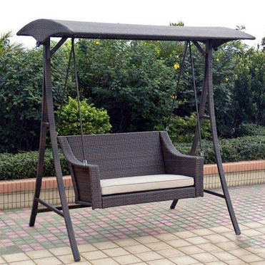 Outdoor Wicker Two Seater Swing - Creations