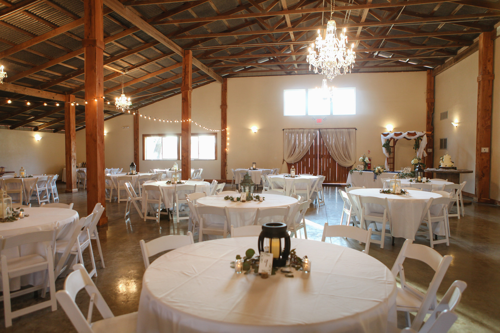 25-60inch round tables and 200 white garden chairs, plus 120 ...