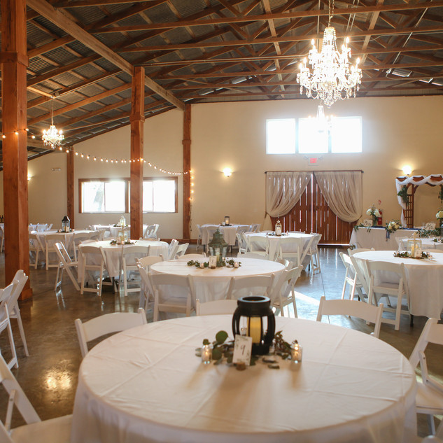 25-60inch round tables and 200 white garden chairs, plus 120 inch and 108 inch white table linens.