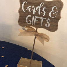 2 cards and gifts signs