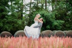 Bride and Groom in Hayfield