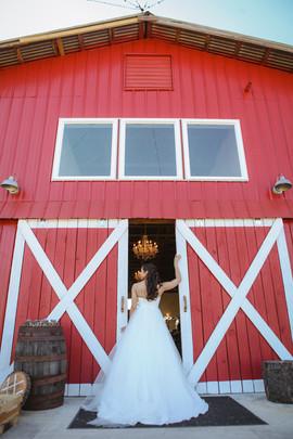 Bride at Barn Doors