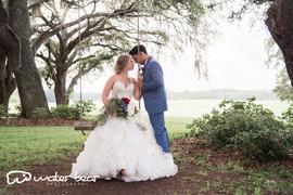 Bride and Groom at Swing