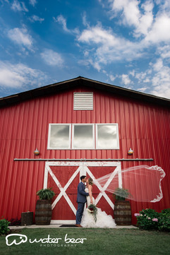 Couple at Barn Front