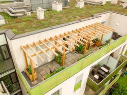 Klimaterrasse Dachterrasse Pergola