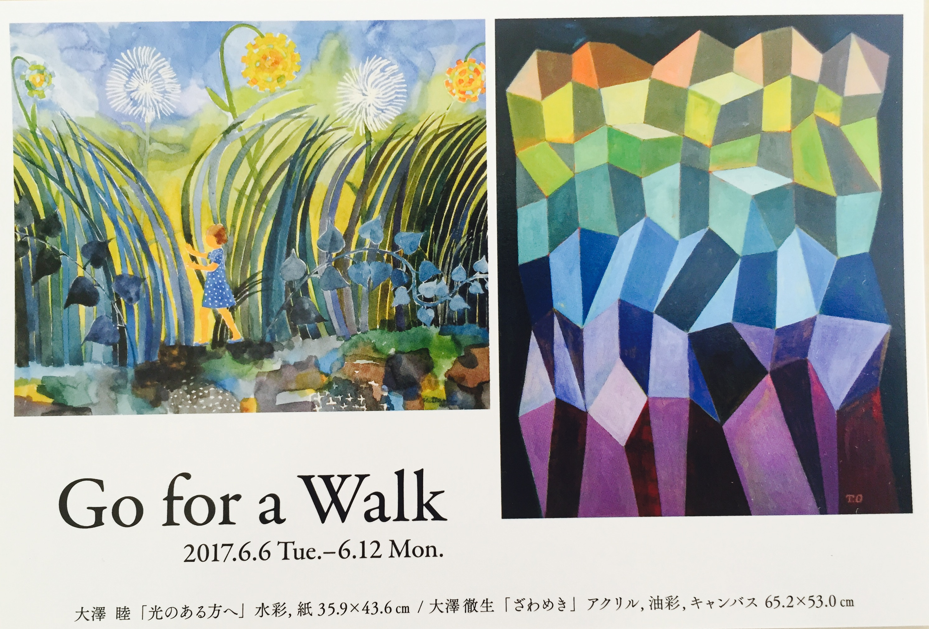 Go for a walk 大澤睦・徹生 二人展