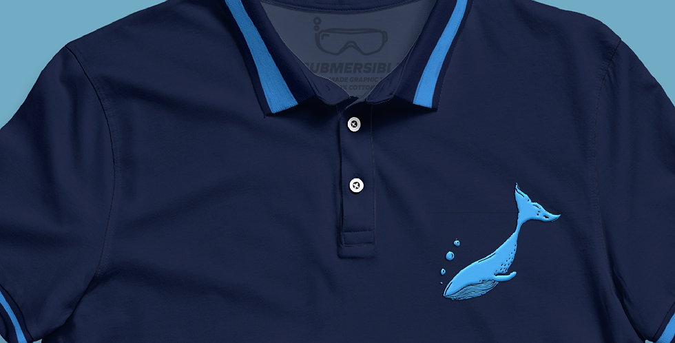 Blue Whale - Polo Shirt