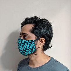 Electric Haze Face Mask