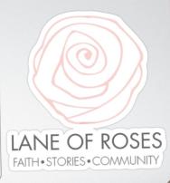Lane of Roses Sticker