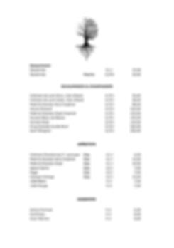 Getränkekarte des Restaurants Zwei Jahrszeiten in Bad Harzburg, Schaumweine und Champagner, Apéritifs, Digestifs
