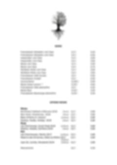 Getränkekarte des Restaurants Zwei Jahrszeiten in Bad Harzburg, Biere und offene Weine
