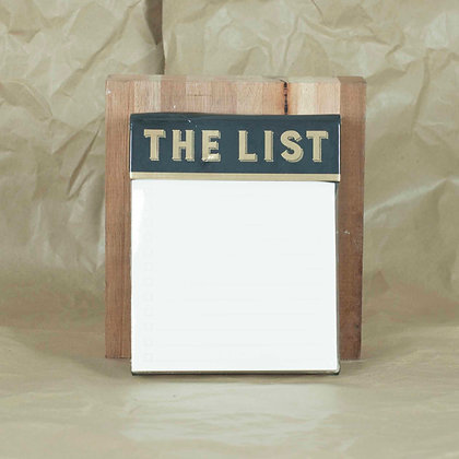 "Block gigante ""the list"""