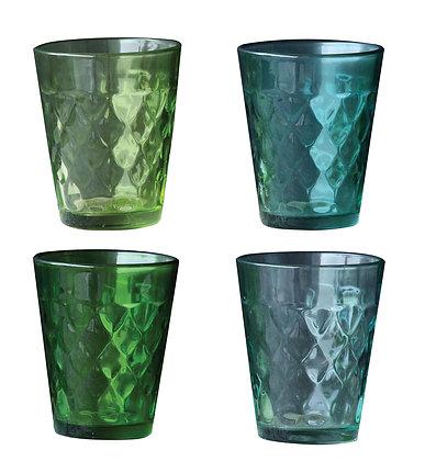 Vaso mercury verde, turquesa