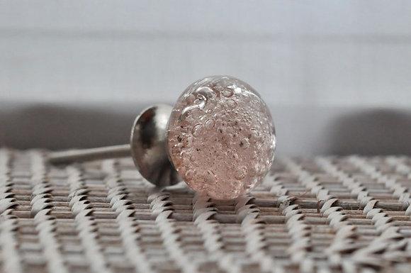 Tirador bubble vidrio rosa