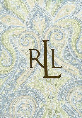 Mantel Ralph Lauren arabescos aqua