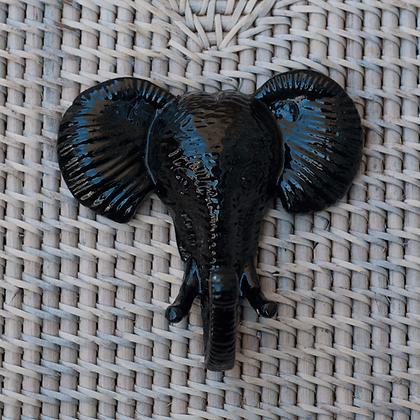 Perchero elefante negro