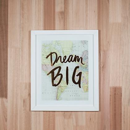 "Cuadro ""Dream Big"""
