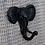 Thumbnail: Perchero elefante negro