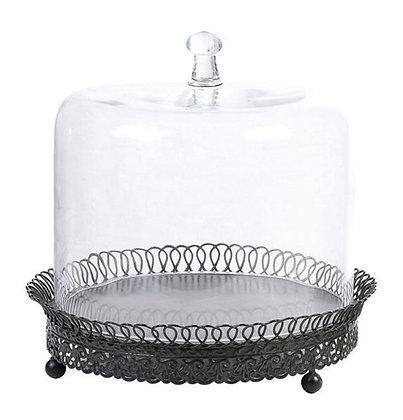 Cupula de vidrio con plato