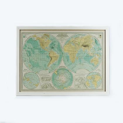 Cuadro mapa mundi vintage