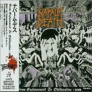 Napalm Death ‎– From Enslavement To Obliteration + Scum (1990 Re-issue With OBI)