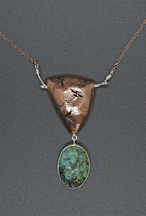 NECKLACE, COPPER HOLLOW FORM